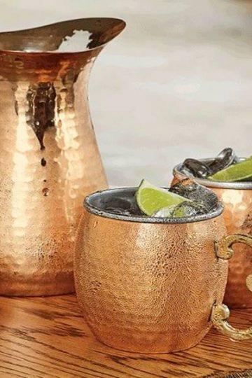 drinking water in a copper vessel